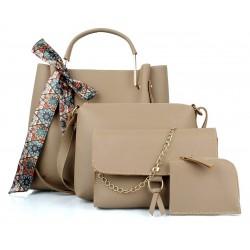 Women Cream Hand Bag Smart