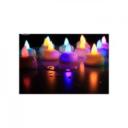 Waterproof and Flameless Battery Operated LED Floating Tea Light Candles (Pack of 6)