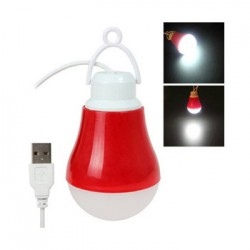 USB Wired Bulb 3W Led Light (Assorted Colour)