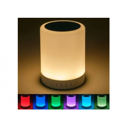 Wireless Portable Bluetooth Speaker with Smart Touch Led Mood Lamp SD Card and Mic